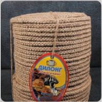 Верёвка джутовая плетёная 200м