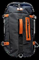 Рюкзак-сумка городской из полиэстера черного цвета HSY-012241