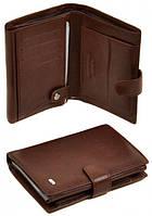 Функциональное кожаное мужское портмоне Dr.Bond BM1020 коричневое, фото 1