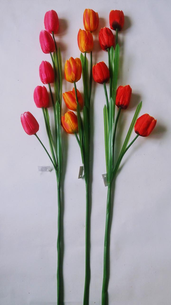 Искусственный тюльпан,ветка искусственного тюльпана