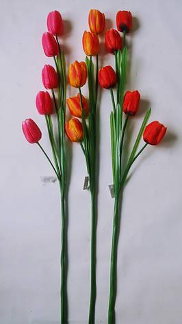 Искусственный тюльпан,ветка искусственного тюльпана, фото 2