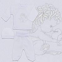 Крестильная одежда для новорожденных р.56, для новорожденных.1819тро,Хлопок-ажур,на выписку,в наличии 56рост