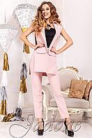 Стильный женский костюм Ролинс пудра   Jadone  42-50  размеры