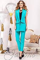 Стильный женский бирюзовый костюм Ролинс  Jadone  42-50  размеры