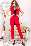 Стильный женский красный костюм Ролинс  Jadone  42-50  размеры