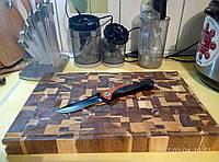 Кухонная торцевая разделочная доска 45х30х4,5 см Є26015П (двухсторонняя)