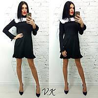 Женское стильное платье с рюшами