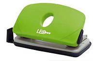 Дырокол 10 листов пластиковый L1422-08 зеленый Leo