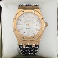 Солидные мужские наручные часы Audemars Piguet ROYAL OAK Gold/White