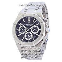 Надежные мужские наручные часы Audemars Piguet Royal Oak Automatic Silver-Black