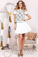 Молодежный белый  костюм Шарлиз  Jadone  42-50  размеры