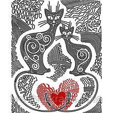Схема на ткани для вышивания бисером Узоры любви