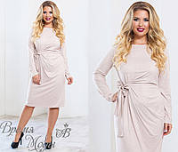 Очаровательное замшевое платье. 5 цветов. р-ры от 48 до 54