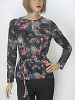 Жіноча трикотажна блуза з поясом Edonna
