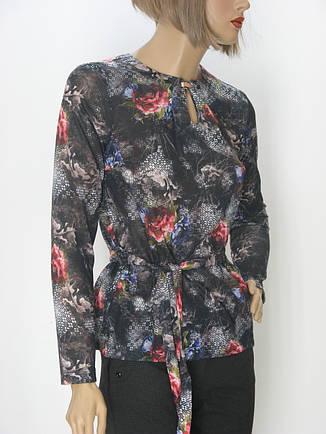 Жіноча трикотажна блуза з поясом Edonna, фото 2