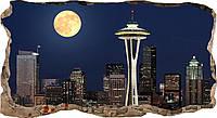 Светящиеся 3D обои Startonight Окно с видом на полную луну