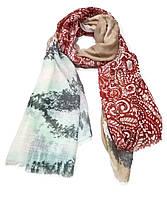 Легкий шарф Сантьяго из вискозы и хлопка, бежевый/терракот