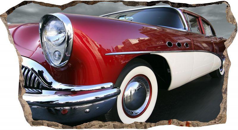 Светящиеся 3D обои Startonight Ретро красный автомобиль