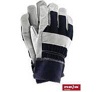 Перчатки комбинированные спилковые RB (REIS)