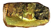Светящиеся 3D обои Startonight Зимняя дорога