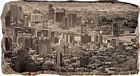 Светящиеся 3D обои Startonight Нью-Йорк в оттенках серого