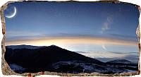 Светящиеся 3D обои Startonight Закат зимой