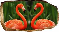 Светящиеся 3д Фото Обои Startonight Мир Животных Фламинго Декор стен Дизайн дома Интерьер