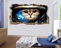 Светящиеся 3D обои Startonight Кот астронавт