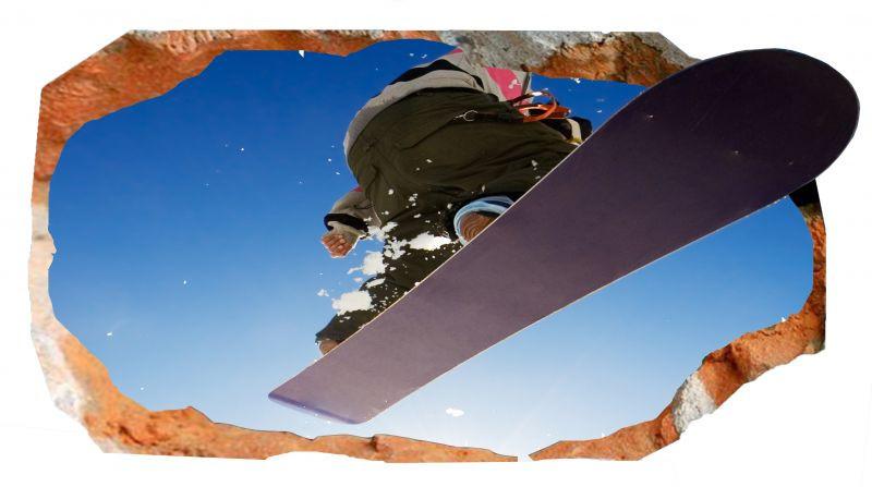 Светящиеся 3D обои Startonight Сноуборд