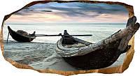 Светящиеся 3D обои Startonight Лодки на песке