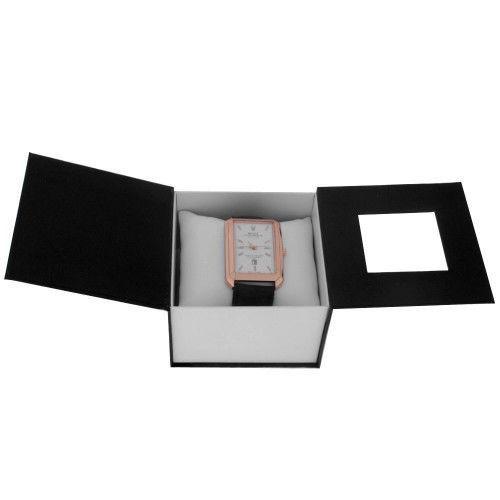 Чёрно-белая подарочная коробка для часов, футляр, шкатулка