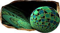 Светящиеся 3D обои Startonight Зеленый мозаик