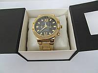 Женские часы Tommy Hilfiger золотистые с черным циферблатом, Томми Хилфигер