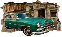 Светящиеся 3D обои Startonight Зеленый автомобиль в Гаване