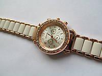 Женские часы золотистые с белым, фото 1