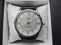 Мужские наручные часы Tissot (Тиссот), хром с белым циферблатом