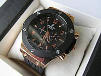 Мужские наручные часы Hublot, чёрный корпус