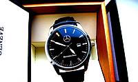 Мужские наручные часы Mercedes (Мерседес), корпус хром с чёрным циферблатом, фото 1