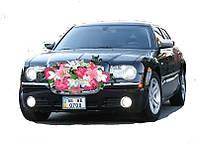 Экибана розовая пионы с лилиями