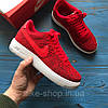 Женские кроссовки Nike Air Force 1 Low Flyknit University red