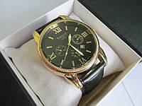 Часы Tissot (Тиссот) золото с чёрным циферблатом