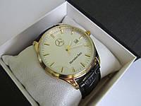 Мужские наручные часы Mercedes (Мерседес), золото с белым циферблатом ( код: IBW036YO )