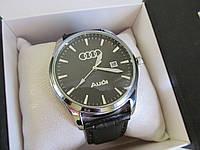Мужские наручные часы AUDI (АУДИ), хром с чёрным циферблатом, фото 1