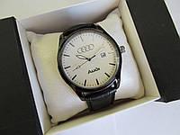 Мужские наручные часы AUDI (АУДИ), чёрный корпус с белым циферблатом