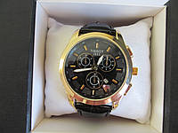 Мужские наручные часы Tissot (Тиссот) золото с чёрным циферблатом