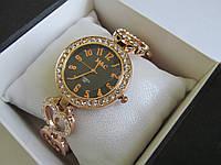 Часы женские с ажурным браслетом золотистые M&C