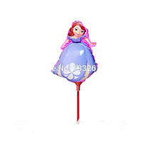 Шарик из фольги на палочке принцесса София 40 х 28 см