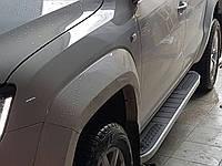 Volkswagen Amarok Боковые площадки Tayga V2 (2 шт., алюминий)