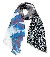 Легкий шарф Сантьяго из вискозы и хлопка, серый