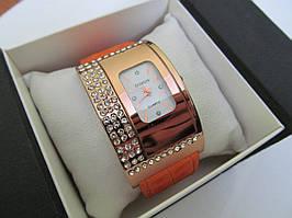 Стильные женские часы Fashion c коричневым ремешком